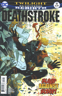 Cover Thumbnail for Deathstroke (DC, 2016 series) #18 [Bill Sienkiewicz Cover Variant]