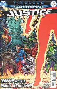 Cover Thumbnail for Justice League (DC, 2016 series) #19 [Fernando Pasarin & Matt Ryan Cover Variant]
