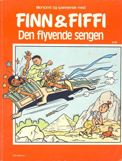 Cover for Finn & Fiffi (Skandinavisk Presse, 1983 series) #6/1986 - Den flyvende sengen
