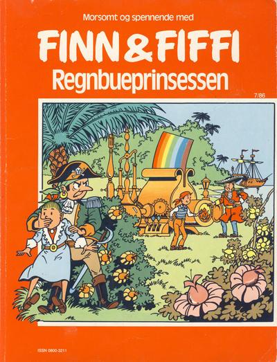 Cover for Finn & Fiffi (Skandinavisk Presse, 1983 series) #7/1986 - Regnbueprinsessen