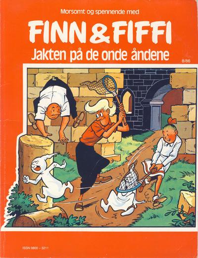 Cover for Finn & Fiffi (Skandinavisk Presse, 1983 series) #8/1986 - Jakten på de onde åndene