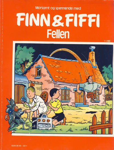 Cover for Finn & Fiffi (Skandinavisk Presse, 1983 series) #11/1986 - Fellen