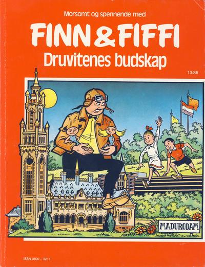 Cover for Finn & Fiffi (Skandinavisk Presse, 1983 series) #13/1986 - Druvitenes budskap