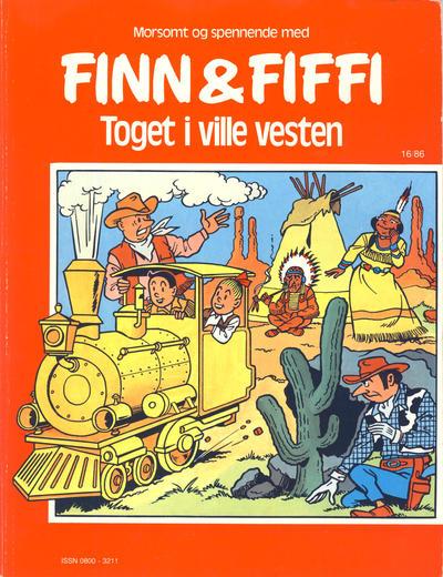 Cover for Finn & Fiffi (Skandinavisk Presse, 1983 series) #16/1986 - Toget i ville vesten