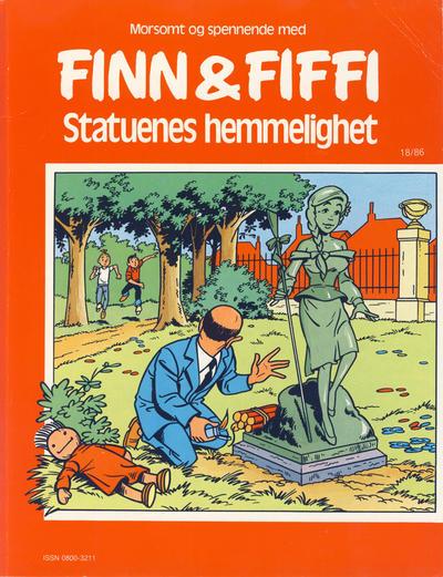 Cover for Finn & Fiffi (Skandinavisk Presse, 1983 series) #18/1986 - Statuenes hemmelighet