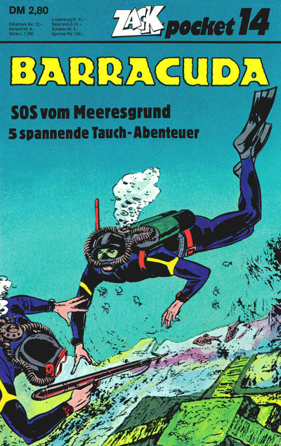 Cover for Zack Pocket (Koralle, 1980 series) #14 - Barracuda - SOS vom Meeresgrund