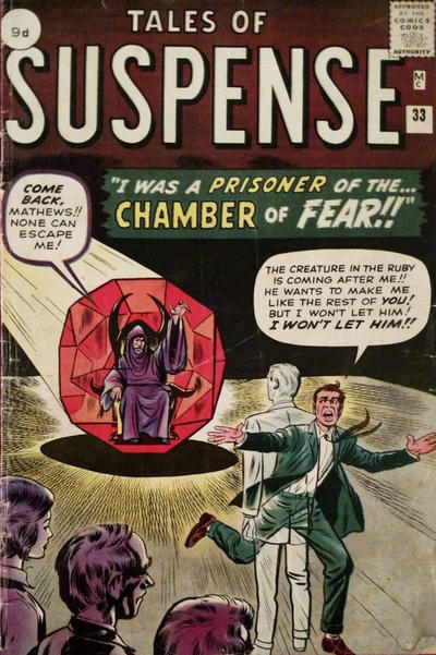 Cover for Tales of Suspense (Marvel, 1959 series) #33
