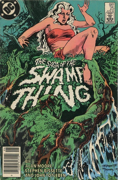 Cover for The Saga of Swamp Thing (DC, 1982 series) #25 [Direct Sales]