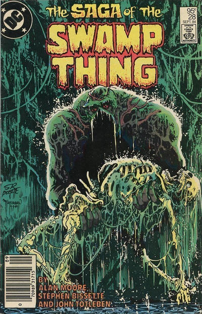Cover for The Saga of Swamp Thing (DC, 1982 series) #28 [Newsstand]