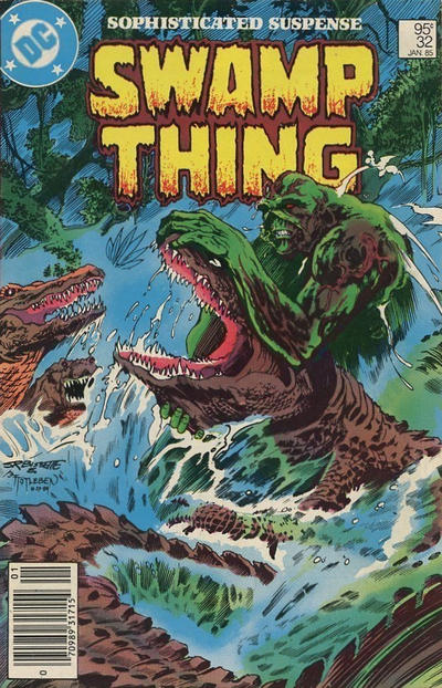 Cover for The Saga of Swamp Thing (DC, 1982 series) #32 [Direct Sales]