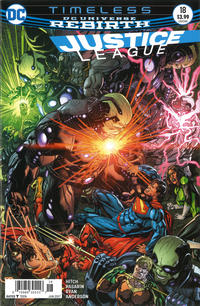 Cover Thumbnail for Justice League (DC, 2016 series) #18 [Newsstand]