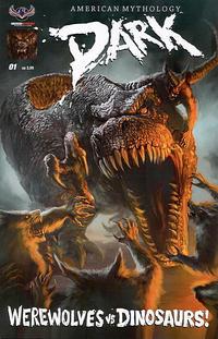 Cover Thumbnail for American Mythology Dark: Werewolves vs. Dinosaurs (American Mythology Productions, 2016 series) #1 [Regular Cover]