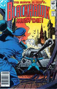 Cover Thumbnail for Blackhawk (DC, 1957 series) #254 [Newsstand]