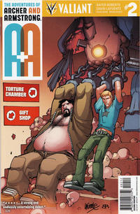 Cover Thumbnail for A&A: The Adventures of Archer & Armstrong (Valiant Entertainment, 2016 series) #2 [Second Printing]