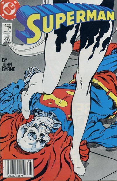 Cover for Superman (DC, 1987 series) #17 [Direct Edition]