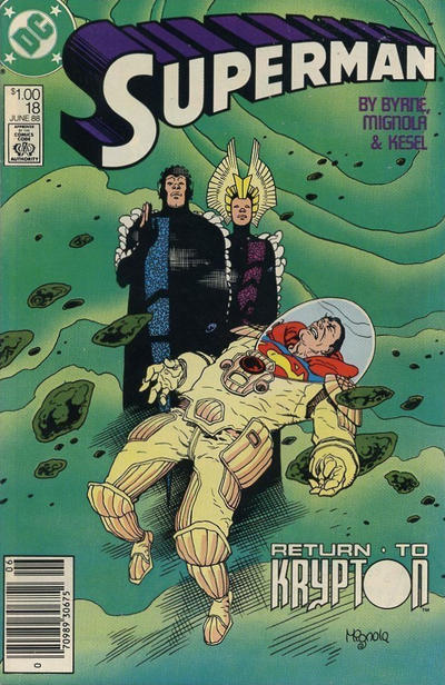 Cover for Superman (DC, 1987 series) #18 [Direct Edition]