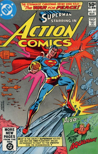 Cover for Action Comics (DC, 1938 series) #517 [Newsstand]