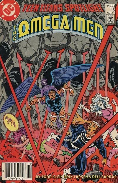 Cover for Teen Titans Spotlight (DC, 1986 series) #15 [Newsstand]