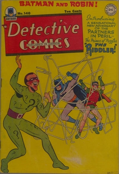 Cover for Detective Comics (DC, 1937 series) #140 [Regular Edition]