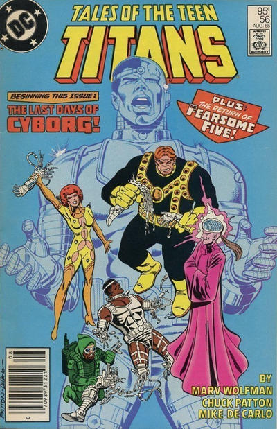 Cover for Tales of the Teen Titans (DC, 1984 series) #56 [Direct Sales]