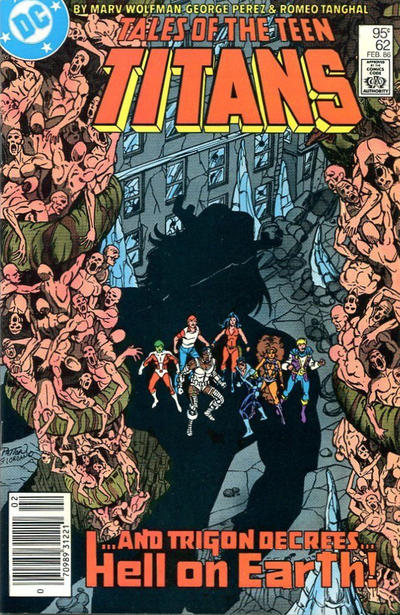 Cover for Tales of the Teen Titans (DC, 1984 series) #62 [Direct Sales]