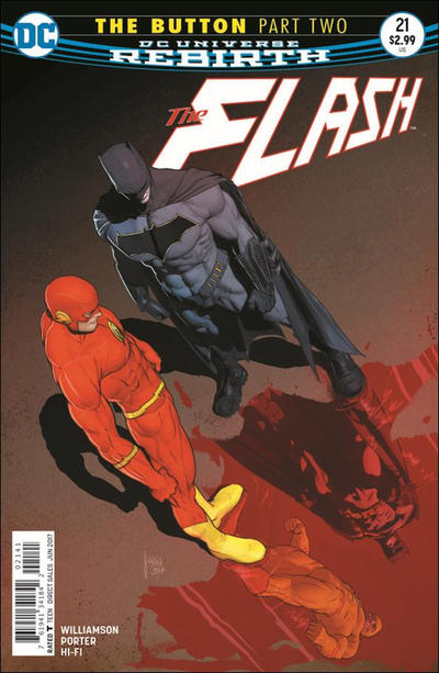 Cover for The Flash (DC, 2016 series) #21 [Howard Porter Variant Cover]