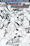 Cover for The Transformers: Robots in Disguise (IDW, 2012 series) #2 [Cover RI -  Incentive Andrew Griffith Black and White Variant]