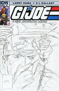 Cover Thumbnail for G.I. Joe: A Real American Hero (IDW, 2010 series) #184 [Cover RI - Incentive Larry Hama Sketch Variant]