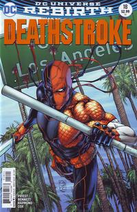 Cover Thumbnail for Deathstroke (DC, 2016 series) #18 [Shane Davis Variant Cover]