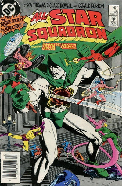 Cover for All-Star Squadron (DC, 1981 series) #28 [Newsstand]