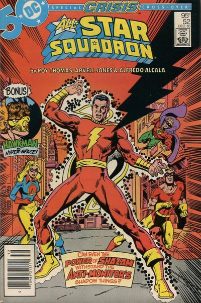 Cover for All-Star Squadron (DC, 1981 series) #52 [Newsstand]