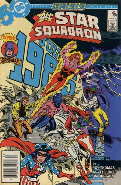 Cover for All-Star Squadron (DC, 1981 series) #55 [Direct Sales]