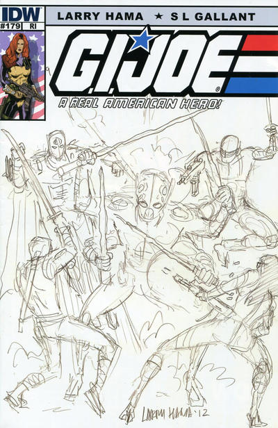 Cover for G.I. Joe: A Real American Hero (IDW, 2010 series) #179 [Cover RI Larry Hama]