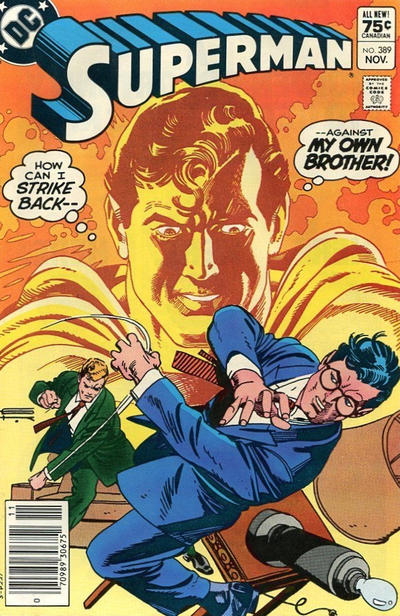 Cover for Superman (DC, 1939 series) #389 [Direct-Sales]