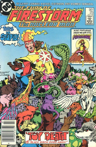 Cover for The Fury of Firestorm (DC, 1982 series) #25 [Direct]