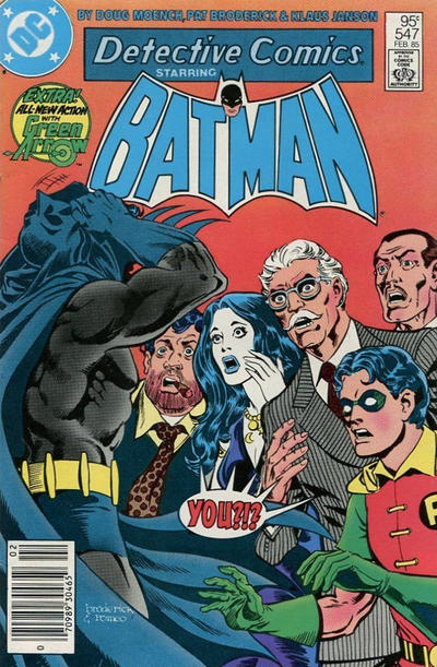 Cover for Detective Comics (DC, 1937 series) #547 [Newsstand]