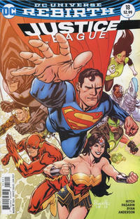 Cover Thumbnail for Justice League (DC, 2016 series) #18 [Yanick Paquette Cover]