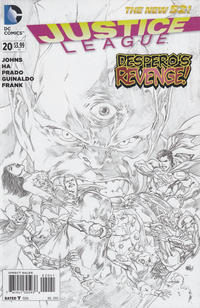 Cover Thumbnail for Justice League (DC, 2011 series) #20 [Sketch Cover Variant]