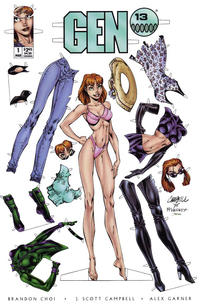 Cover Thumbnail for Gen 13 (Image, 1995 series) #1 [All Dolled Up Cover 1-J]