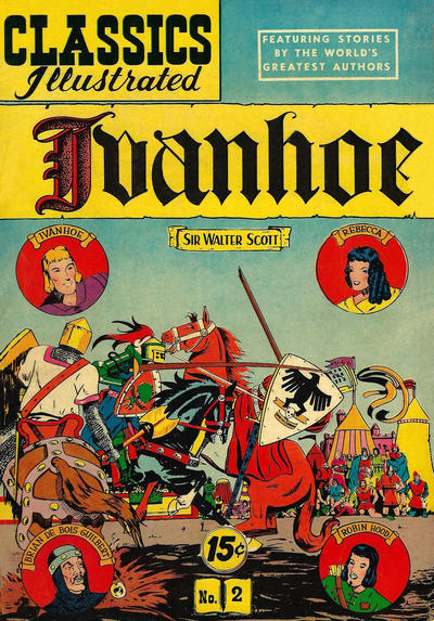 Cover for Classics Illustrated (Gilberton, 1947 series) #2 [HRN 106] - Ivanhoe