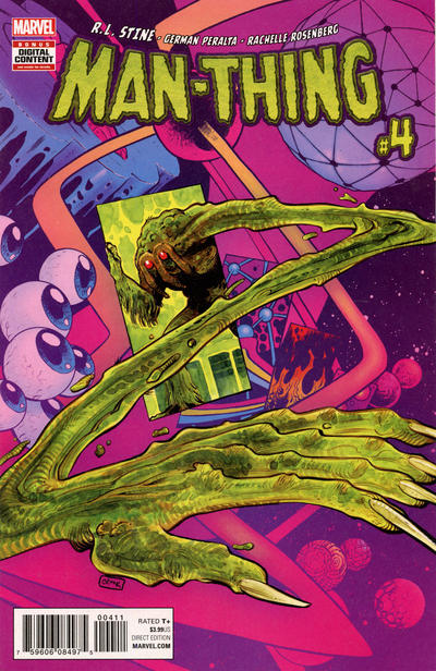 Cover for Man-Thing (Marvel, 2017 series) #4 [Incentive Pasqual Ferry Variant]
