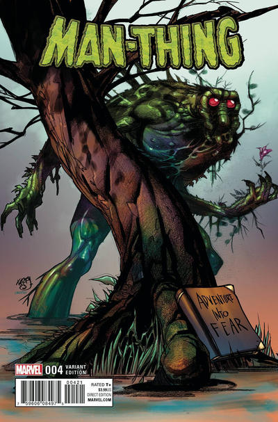 Cover for Man-Thing (Marvel, 2017 series) #4 [Tyler Crook Cover]