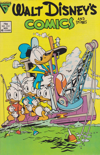 Cover for Walt Disney's Comics and Stories (Gladstone, 1986 series) #512 [Newsstand]