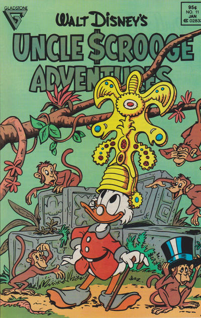 Cover for Walt Disney's Uncle Scrooge Adventures (Gladstone, 1987 series) #11