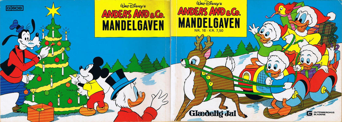 Cover for Anders And & Co. mandelgaven (Egmont, 1961 series) #16