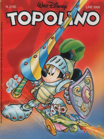 Cover for Topolino (The Walt Disney Company Italia, 1988 series) #2160