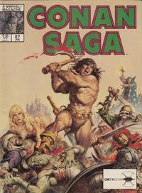 Cover Thumbnail for Conan Saga (Marvel, 1987 series) #27 [Direct]