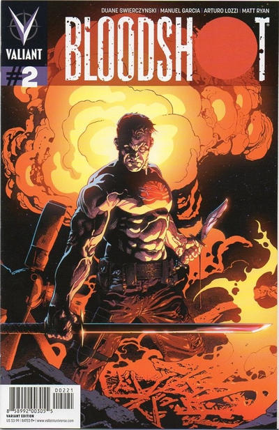 Cover for Bloodshot (Valiant Entertainment, 2012 series) #2 [Cover B - Andy Brase]
