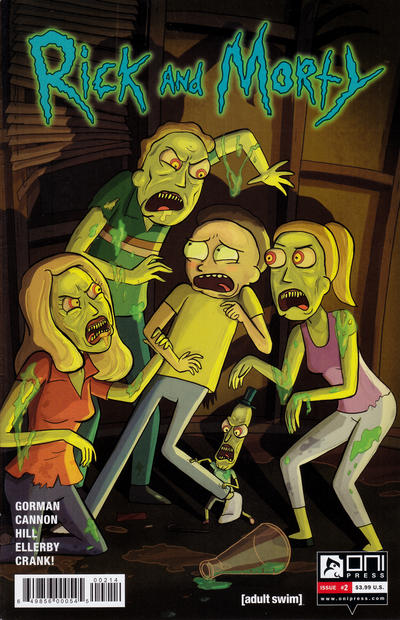 Cover for Rick and Morty (Oni Press, 2015 series) #2 [Third Printing Variant - Julieta Colás]
