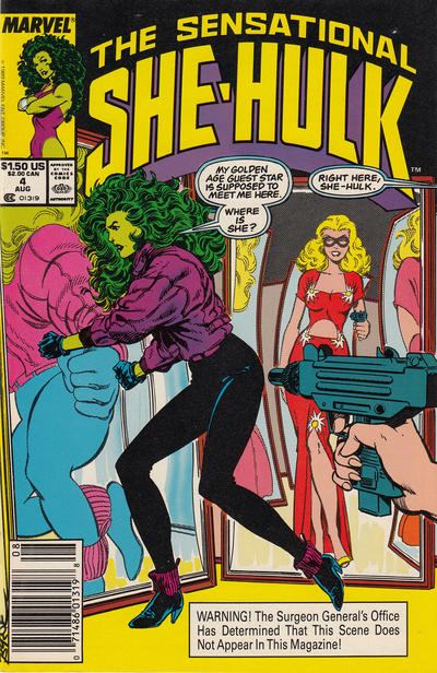 Cover for The Sensational She-Hulk (Marvel, 1989 series) #4